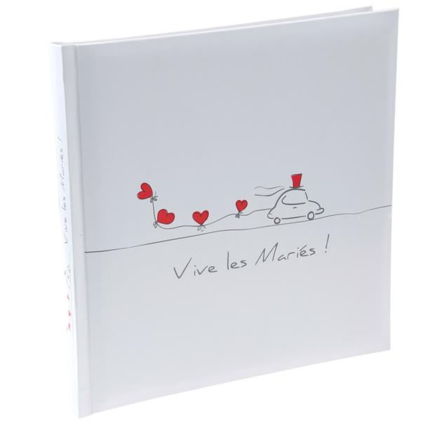 Livre D Or Vive Les Maries Blanc