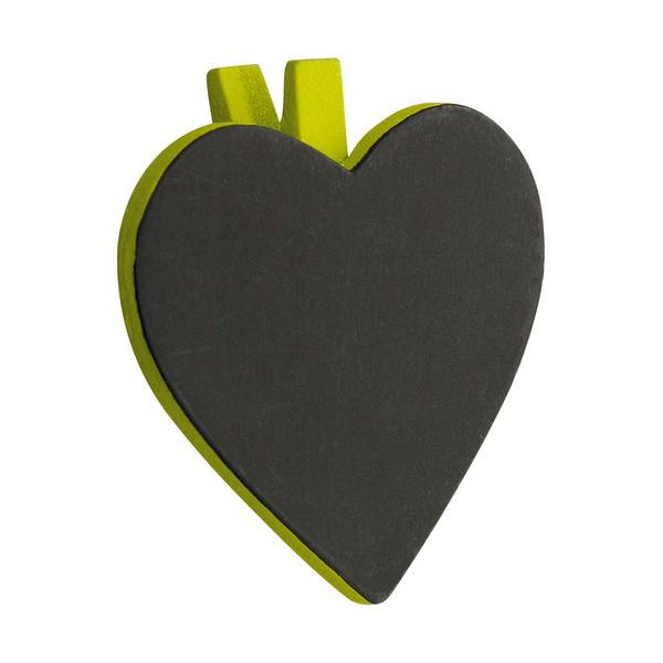 pince en bois c ur ardoise x 6 pi ces vert inspiration by sabel. Black Bedroom Furniture Sets. Home Design Ideas